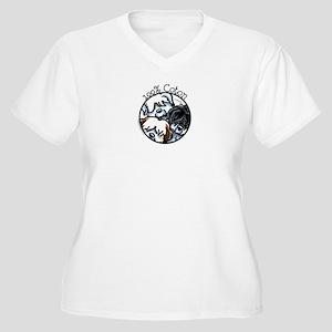 100% Coton Women's Plus Size V-Neck T-Shirt