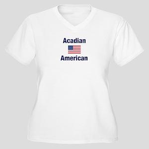 Acadian American Women's Plus Size V-Neck T-Shirt