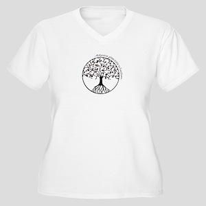 Adoption Roots Women's Plus Size V-Neck T-Shirt