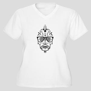 barbershop punk skull Plus Size T-Shirt