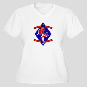 1st Battalion - 4th Marines Women's Plus Size V-Ne