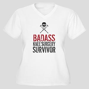 Badass Knee Surgery Survivor Plus Size T-Shirt