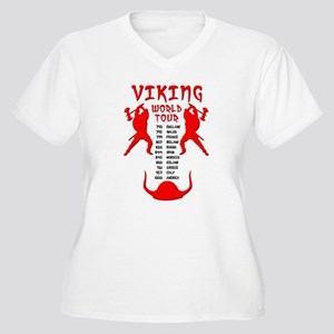 Viking World Tour Funny Norse T-Shirt Women's Plus