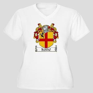 Burke Coat of Arms Women's Plus Size V-Neck T-Shir