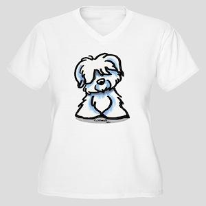 Coton Cartoon Women's Plus Size V-Neck T-Shirt
