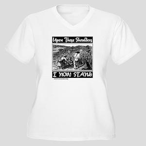 """U T S"" Women's Plus Size V-Neck T-Shirt"
