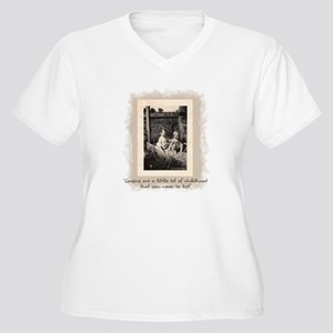 Cousins and Childhood Women's Plus Size V-Neck T-S