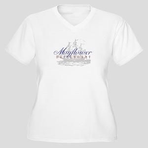 Mayflower Descendant - Women's Plus Size V-Neck T-