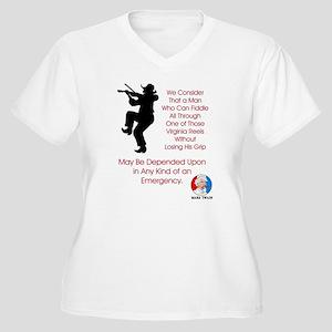 Mark Twain Fiddle Emergency Women's Plus Size V-Ne