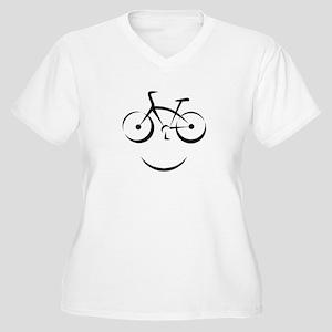 Bike Smile Women's Plus Size V-Neck T-Shirt
