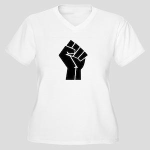 Black Power Women's Plus Size V-Neck T-Shirt