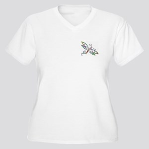 Colorful dragonfly Plus Size T-Shirt