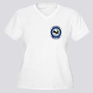 524 2 SIDE Women's Plus Size V-Neck T-Shirt
