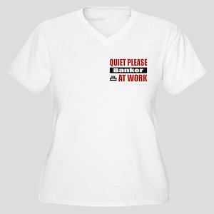 Banker Work Women's Plus Size V-Neck T-Shirt