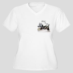 Wild & Free Women's Plus Size V-Neck T-Shirt