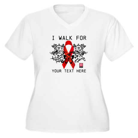 I Walk For Ornate Women's Plus Size V-Neck T-Shirt