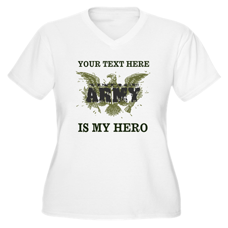 Personalizeable Army Hero Women's Plus Size V-Neck