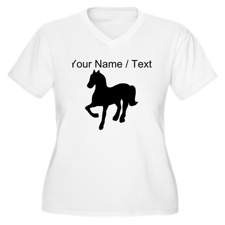Custom Pony Silhouette Plus Size T-Shirt