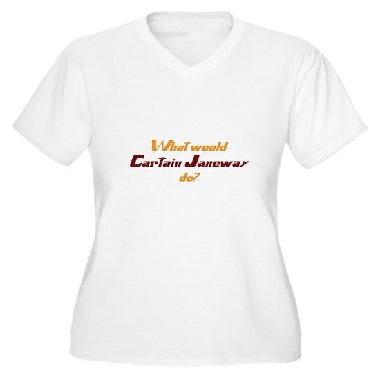 d9403ab291cabc what would captain janeway do t shirt Women s Plus Size V-Neck T ...