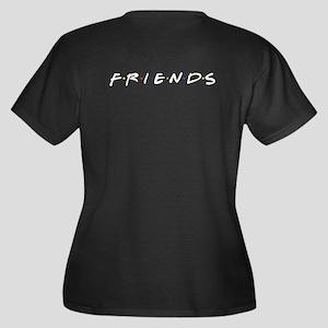 Friends are Women's Plus Size V-Neck Dark T-Shirt