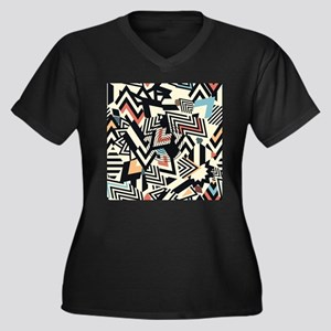 Abstract Pattern Plus Size T-Shirt