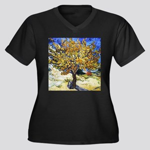 Van Gogh Mulberry Tree Women's Plus Size V-Neck Da