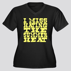 I miss hating summer heat Women's Plus Size V-Neck