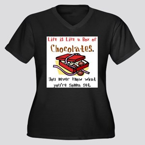 Life is a Box of Chocolates Women's Plus Size V-Ne