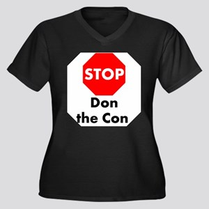 Stop Don the Con Plus Size T-Shirt