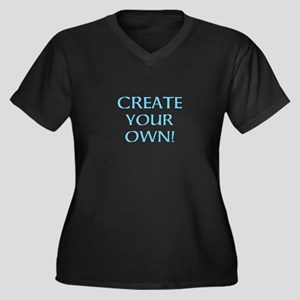 CREATE YOUR Women's Plus Size V-Neck Dark T-Shirt
