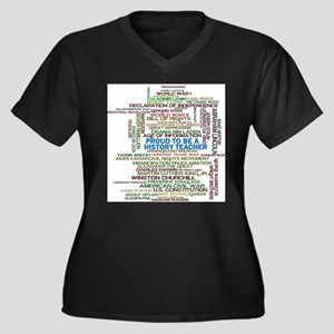 Proud History Teacher Plus Size T-Shirt