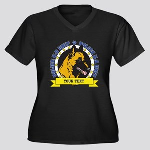 Personalized K9 Unit Belgian Malinois Women's Plus