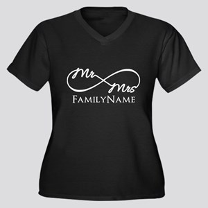 Custom Infinity Mr. and Mrs. Plus Size T-Shirt