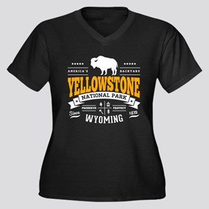 Yellowstone Women's Plus Size V-Neck Dark T-Shirt