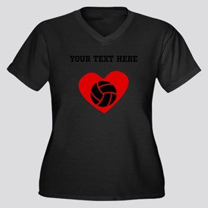 Volleyball Heart (Custom) Plus Size T-Shirt