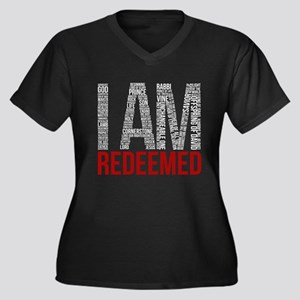 I Am Redeemed - Black/Red Plus Size T-Shirt