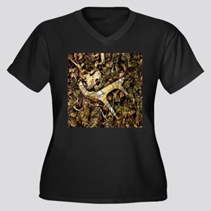 Camo Deer Antlers Women S Plus Size T Shirts Cafepress
