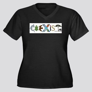 Coexist with Animals Plus Size T-Shirt