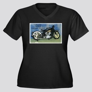 I Rode With James Dean Women's Plus Size V-Neck Da