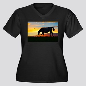 Broodmare Sunset Plus Size T-Shirt