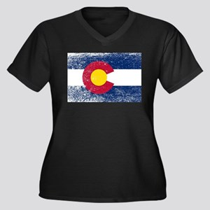 Colorado State Flag Grunge Plus Size T-Shirt