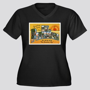 St. Petersburg Postcard Women's Plus Size V-Neck D