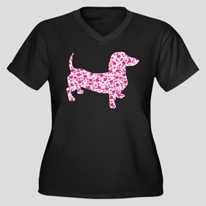 Doxie Hearts Plus Size T-Shirt