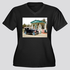 Model A at gas station Plus Size T-Shirt