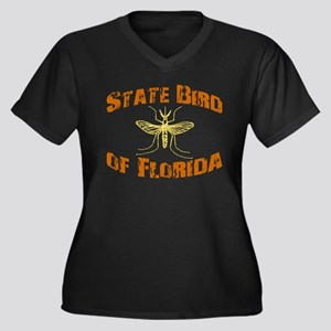 State Bird of Florida Women's Plus Size V-Neck Dar