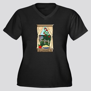 Kitchen Window View of Summer Sc Plus Size T-Shirt