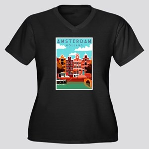 Amsterdam Holland Travel Plus Size T-Shirt