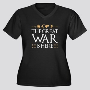 The Great War Is Here Women's Plus Size V-Neck Dar