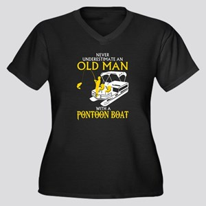 Never Underestimate An Old Man W Plus Size T-Shirt