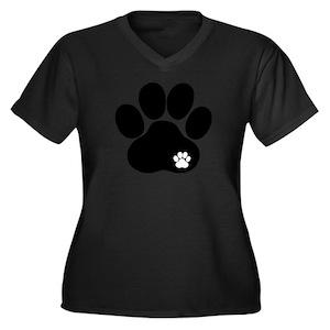 64ebfcf1ba2d Paw Print Women's Plus Size T-Shirts - CafePress